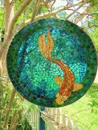 Image result for koi fish mosaic bowl