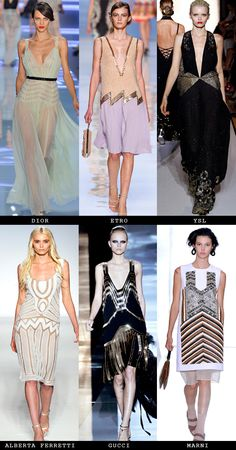 Art Deco: S/S 12 runways #fashion #artdeco #roaring20's