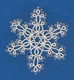 Tatting Pattern Calendar: July 15 - Ruth's 2007 snowflake variation (diagrammed pattern)