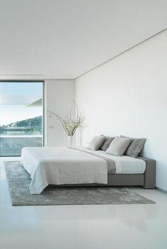 Master bedroom inside the Private House Chameleon in Mallorca _