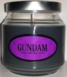 Gundam Tanaka inspired candle from the game Super Danganronpa 2.