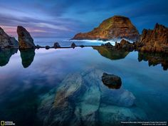 The mighty Rocks against's the ocean waves during sunset moment. (Photo and caption by Noura Aljeri/National Geographic Photo Contest) Nature Images, Nature Pictures, National Geographic Photo Contest, Portugal, Beautiful Places, Beautiful Pictures, Beautiful Bride, Sunset Photos, Photo Location
