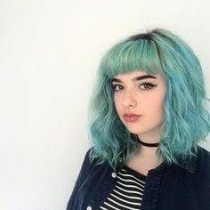 Image result for dyed hair bob