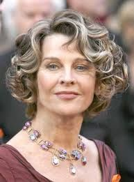 Image result for hairstyles for older women with curly hair
