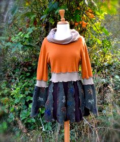 Harvest Cashmere And Wool Tunic Sweater Green Pumpkin by MyOlyGirl, $85.00