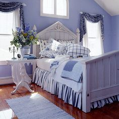 blue and white bedroom ideas2