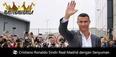 Cristiano Ronaldo hanya senyum dan tertawa saat ditanya siapa pemain yang menggantikan CR7 di Real Madrid pada musim depan.