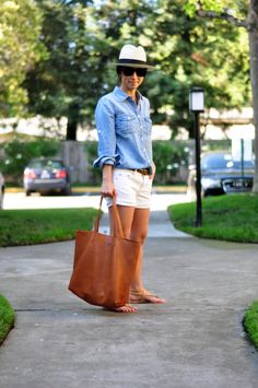 A pair of Gap shorts as featured on the blog In the City with Crystalin.