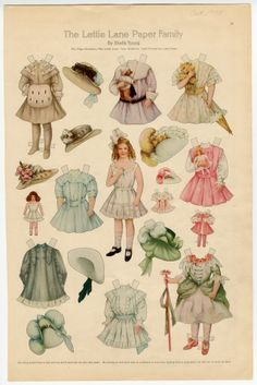 75.2744: The Lettie Lane Paper Family: Miss Lettie Lane | paper doll | Paper Dolls | Dolls | National Museum of Play Online Collections | The Strong