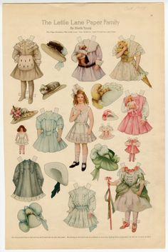 75.2744: The Lettie Lane Paper Family: Miss Lettie Lane 1908| paper doll
