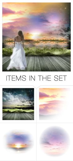 """""""sunset. To Ellen"""" by dutchconnection ❤ liked on Polyvore featuring art"""