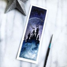 Second, dream. And finally, dare. -Walt Disney ~ I am thankful for the negative things that have made me a stronger and better person. ~ ~ Bookmark available in store now Watercolor Disney, Watercolor Bookmarks, Watercolor Projects, Watercolor Paintings, Painting Inspiration, Art Inspo, Harry Potter, Drawn Art, New Art