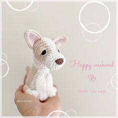 "Aidie & Jellybean on Instagram: ""Happy weekend everyone💕It's looking like it'll be a rainy one here so I'll be enjoying a relaxing day indoors☕️ #aidieandjellybean…"" Border Collie Puppies, Relaxing Day, Toy Sale, Jelly Beans, Happy Weekend, Crochet Patterns, Crochet Hats, Teddy Bear, Animals"