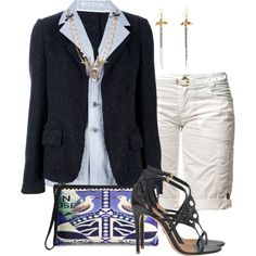 """""""Shorts and Blazer"""" by brendariley-1 on Polyvore"""