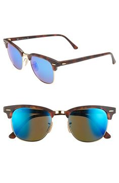 Ray-Ban 'Clubmaster' 51mm Sunglasses available at #Nordstrom