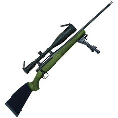 """Mossberg Patriot Night Train Bolt Action Rifle .308 Win 22"""" Fluted Barrel 4 Rounds OD Green Synthetic Stock Blued with 6-24x50 Scope 27924 - 015813279246"""
