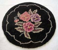 Vintage Hand Hooked Wool Chair Pad Striking by SharetheLoveVintage, $25.00