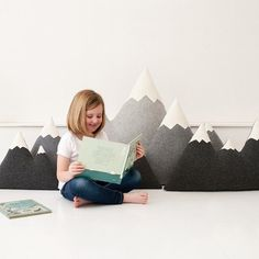 I love the idea for a WA woodland nursery....we'd have to make some. XL + XXL - Wool Mountain Pillow