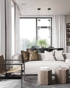living room Outdoor Furniture Sets, Outdoor Decor, Living Room Interior, Living Rooms, House Design, Interior Design, Home Decor, Architects, Flat