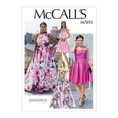 The latest range of Sewing Patterns from McCall's including Dress Patterns, Costume Sewing Patterns, Sewing Patterns for Children's Clothes, Craft and more! Corsage, Clothing Patterns, Dress Patterns, Patron Simplicity, Patron Butterick, Summer Dresses, Formal Dresses, Women's Dresses, Vogue