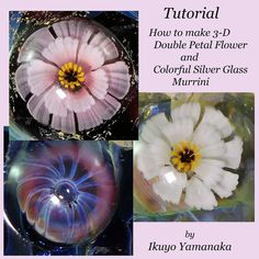 Lampwork Tutorial: How to make 3-D Double Petal Flower Murrini and Colorful Murrini by Ikuyo Yamanaka
