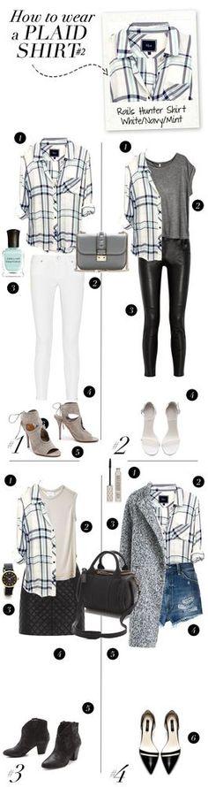 FASHION: How To Wear a plaid shirt | MadeByGirl | Bloglovin