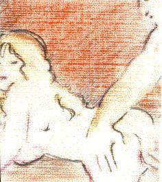 """""""Nus 10"""" - Lápis-de-cor. Projeto """"Delta Z"""". Setembro de 2004. Arte Erótica."""