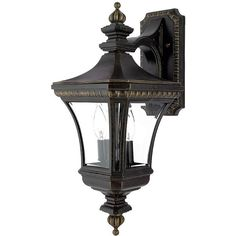 "Durham Wall Lantern - Imperial Bronze, 21"" (1.640 DKK) ❤ liked on Polyvore featuring home, outdoors, outdoor lighting, wall mount lantern, wall-mount lamp, black lantern, wall mounted lamps and wall-mounted lamps"