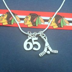 Check out these jersey number charm necklaces to support your favorite #Blackhawks player!