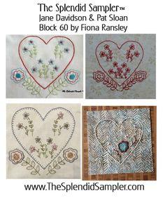 60 Splendid Sampler Fiona Ransley block multi...free embroidery pattern