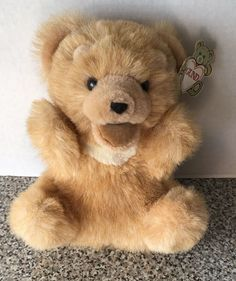 Gund Vintage 1985 Teddy Bear Hand Puppet Plush Tags My Name is Gunderpets 9150…
