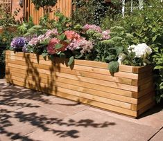 1.8m Wooden Patio Trough Planter - by Rowlinson Large Wooden Planters, Wooden Patios, Rectangular Planters, Wooden Garden Planters, Patio Planters, Wooden Planter Boxes, Plant Troughs, Garden Troughs, Trough Planters