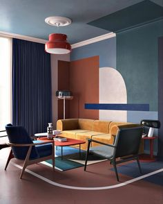 The new DECO HOME is here! We show the highlights from the new issue . Die neue DECO HOME ist da! Wir zeigen die Highlights aus dem neuen Heft The new DECO HOME is here! We show the highlights from the new issue paint Modern Interior Design, Home Design, Interior Architecture, Bauhaus Interior, Design Interiors, Salon Design, Interior Design Wallpaper, Art Deco Interiors, Home Interiors