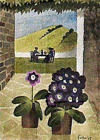 Mary Fedden. Auriculas and Lunch