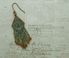 Playing with my beads...Fringe Earrings #48 & #49
