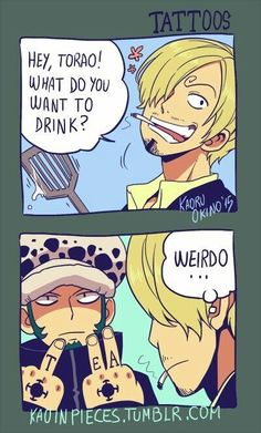 That's One Way to Place an Order anime-one-piece-trafalgar-law-drink-order-funny One Piece Manga, One Piece Meme, One Piece Comic, One Piece 3, One Piece Figure, Sanji One Piece, One Piece Funny, One Piece Drawing, One Piece Fanart