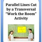 Get your students up and moving with this ready-to-print activity to help your students practice using the theorems and postulates for parallel lines cut by a transversal.