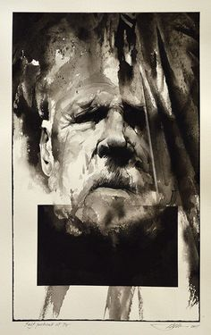 Original Self-Portrait at 75 by Barry Moser | R. Michelson Galleries