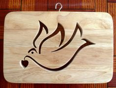 Beautiful Natural Wood Decorative 'Dove' Design Wall Plaque - Hand crafted By Andromeda! by Greg Ledder http://www.amazon.co.uk/dp/B00DGQM65C/ref=cm_sw_r_pi_dp_7IZmvb1R95RXK
