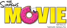 the simpsons movie logo.