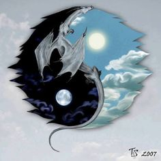 Yin Yang - Fantasy pictures and fantasy images Dragon ~ this would be awesome in my nain room. Yen Yang, Ying Y Yang, Arte Yin Yang, Yin Yang Art, Yin And Yang, Yin Yang Tattoos, Dragon Yin Yang Tattoo, Dragon Images, Dragon Pictures