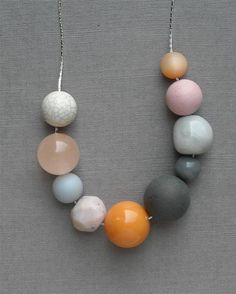 LOVE this egg carton necklace  vintage lucite and by urbanlegend on Etsy, $25.00