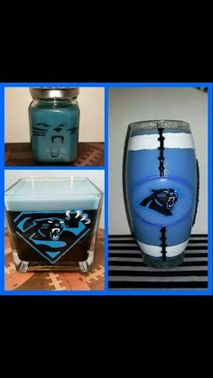 Carolina Panthers Scented with Nag Champa or your choice of over 40 scents to choose from