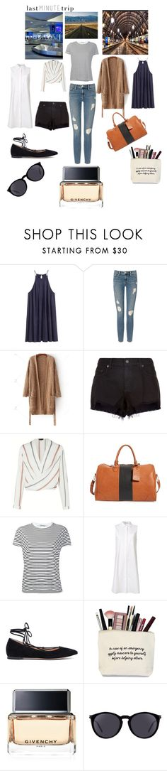 """""""Untitled #163"""" by cynn4040 ❤ liked on Polyvore featuring H&M, Frame Denim, rag & bone, Sole Society, T By Alexander Wang, Gianvito Rossi, Givenchy and Yves Saint Laurent"""