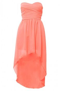 Mullet Hem Chiffon Bandeau Dress jess wedding