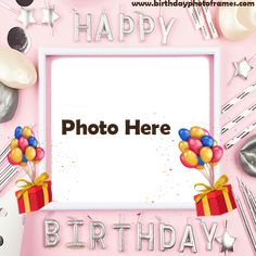 Happy birthday cards with name and photo Birthday Wishes With Photo, Birthday Card With Name, Happy Birthday Cake Photo, Happy Birthday Frame, Happy Birthday Wishes Images, Beautiful Birthday Cards, Birthday Wishes Cards, Happy Birthday Gifts, Birthday Greeting Cards