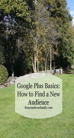 Google Plus Basics: How to Find a New Audience | The NY Melrose Family