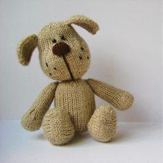 Bernie el patrón de tejer perro de juguete
