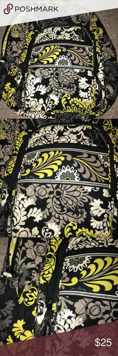 Vera Bradley Backpack Vera Bradley Backpack  Great condition, a little wear but still great to use Tons of pockets inside bag Vera Bradley Bags Backpacks