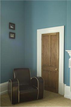 21 Ideas For Bathroom Colors Blue Farrow Ball Living Room Paint, New Living Room, My New Room, Living Room Decor, White Wall Bedroom, Wood Bedroom, White Rooms, Farrow Ball, Bathroom Colors Blue